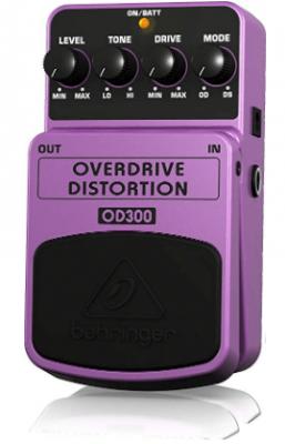 behringer od300 distorsión y overdrive